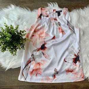 WHBM floral tank top